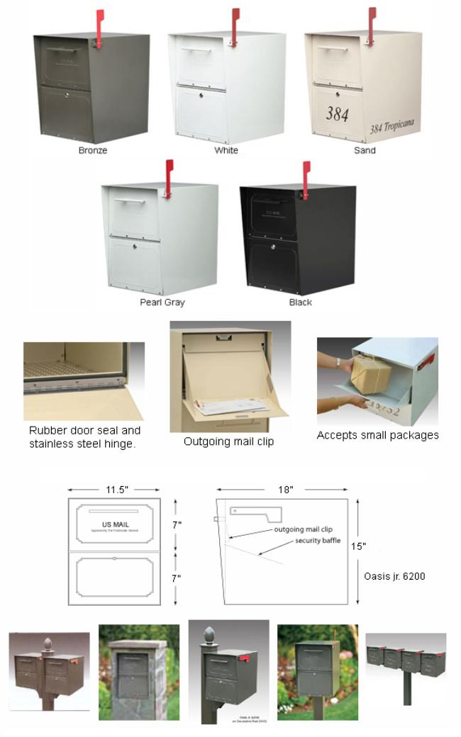 standard size mailbox dimensions 2